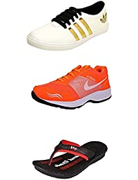 Jabra Perfect Combo Pack Of 2 Shoes- Sneakers And Loafers & Slippers For Men In Various Sizes - B06XTVZQH5