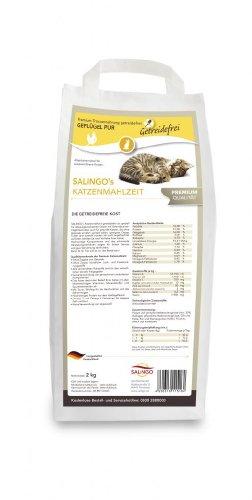 SALiNGO Katzenfutter mit Geflügel I Katzen Trockenfutter getreidefrei I hochwertiges Protein und Taurin hoher Fleischanteil I Katzennahrung ohne Zucker Alleinfuttermittel 2 kg
