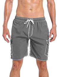 853ebcf6b18 QRANSS Men's Swim Trunks Beach Surf Shorts