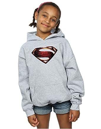 DC Comics Bambine e Ragazze Justice League Movie Superman Emblem Felpa con Cappuccio 12-13 Years Sport Grigio