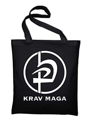 Krav Maga Logo Di Arti Marziali Borsa Di Juta, Borsa, Borsa In Tessuto, Sacchetto Di Cotone Nero