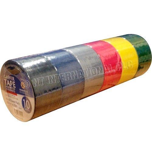 6pc-gaffer-tape-48mm-x-10m-mesh-gaffa-duct-cloth-waterproof-rolls-assorted-new