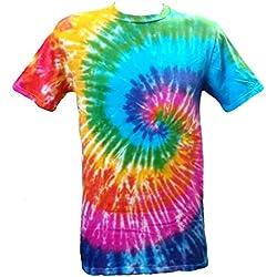 Tie Dye Acid House Spiral 700486 T-shirt, Multicolore, XL