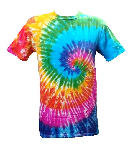 Tie Dye Spiral Pattern T-shirt for Adults, S to 5XL