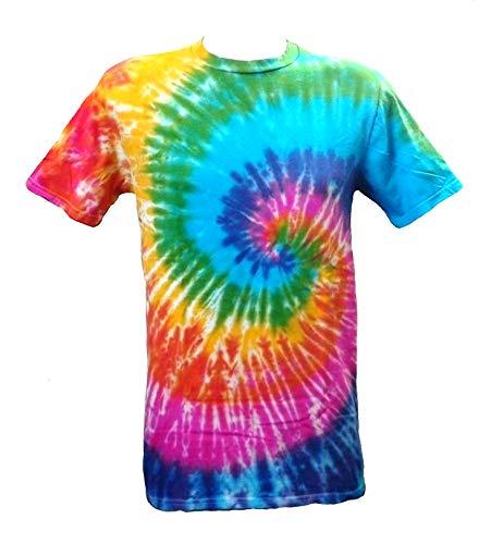 Tie Dye Acid House Spiral Herren T-Shirt L