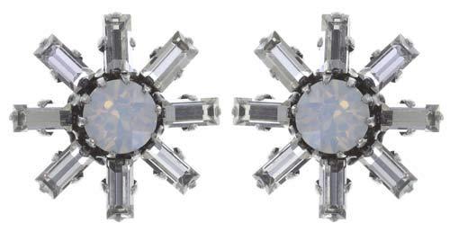 Konplott Ohrringe Spider Daisy S silver white