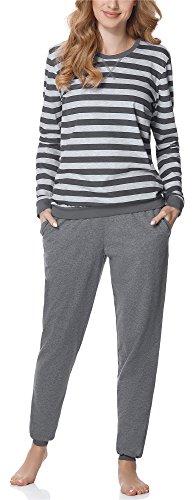 Merry Style Damen Schlafanzug MS10-107 (Dunkelmelange, M)
