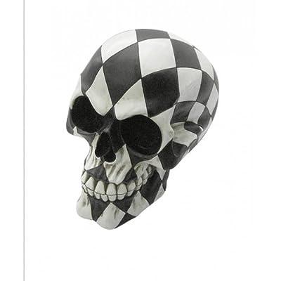 Fabulous Gothic Harlequin Skull Figure Ornament