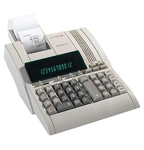 Olympia Tischrechner CPD-3212 S, ergonomische Tastatur mit griffsicheren Tasten, großes Display, 12-stellige Anzeige 12 Display-taste