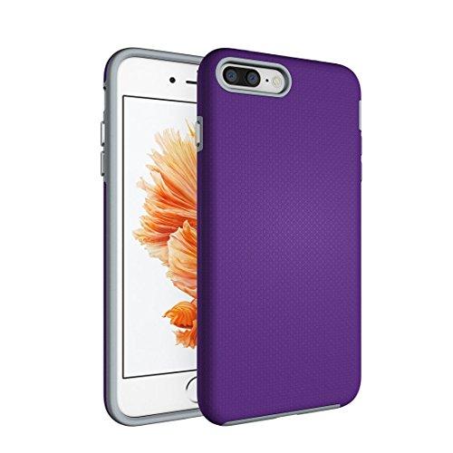 Hülle für iPhone 7 plus , Schutzhülle Für IPhone 7 Plus Ball Texture Anti-Rutsch PC + TPU Schutzmaßnahmen Rückseiten Fall Fall ,hülle für iPhone 7 plus , case for iphone 7 plus ( Color : Black ) Purple