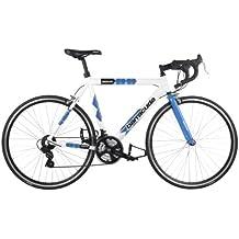 """Barracuda - Bicicleta de carreras para hombre 22.5"""", rueda 700C, color azul y blanco"""