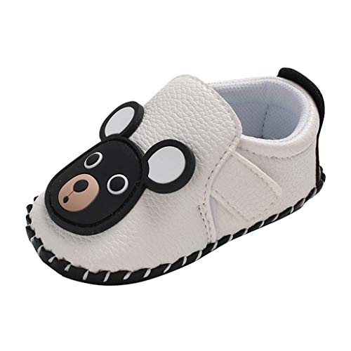 LILIGOD Unisex Baby Loafers Mädchen Jungen Lauflernschuhe Bequem rutschfest Kleine Lederschuhe Slip-On Taufschuhe Freizeitschuhe Weiche Schuhe Erste Wanderer Weiche Sohle Schuhe - Baby-schuhe Koala Mädchen Für