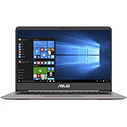 "Asus Zenbook UX410UA-GV410T Ultrabook 14"" Full HD Gris (Intel Core i7, 8 Go de RAM, SSD 256 Go, Windows 10) Clavier AZERTY Français"