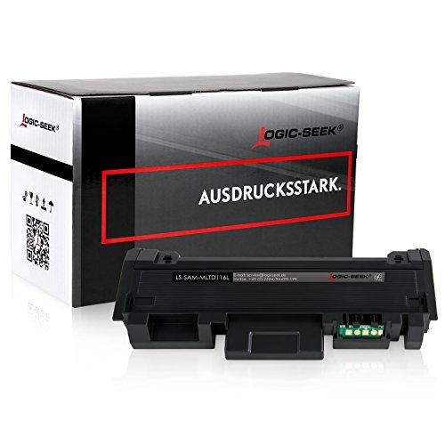 Preisvergleich Produktbild Logic-Seek XXL Toner kompatibel zu Samsung MLT-D116L für Samsung Xpress M2675FN, Xpress M2835DW - Schwarz 3.000 Seiten