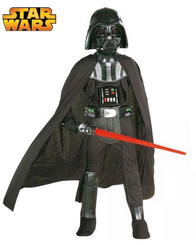 Costume Darth Vader Bambino Originale Star Wars Deluxe - Colore - Nero, Taglia - Small 3 - 4 Anni 116 cm