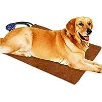 Cojín de calefacción para mascotas para gatos Perros eléctricos, temperatura ajustable de Berocia Impermeable Protección de sobrecalentamiento de la cama para mascotas (Extra grande 60 x 40 cm)