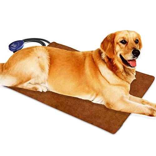 Cojín de calefacción para mascotas para gatos Perros eléctricos, temperatura ajustable de Berocia Impermeable Protección de sobrecalentamiento de la cama para mascotas (Extra grande 65 x 40 cm)