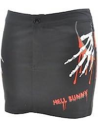 Hell Bunny Minirock HANDY MINI black/red
