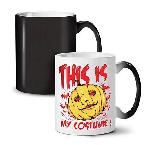 Wellcoda Halloween Kostüm Grusel Farbwechselbecher, Kunst Tasse - Großer, Easy-Grip-Griff, Wärmeaktiviert, Ideal für Kaffee- und Teetrinker