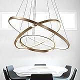 LED Lüster Modern Acryl Pendelleuchte Drei Ringe Deckenlampe Kreative Kronleuchter Hängeleuchte Wohnzimmer Schlafzimmer Esszimmer Gold Deckenleuchter Weißes Licht Lichtquelle war enthalten