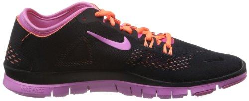 Nike Free 5.0 TR Fit 4 Damen Hallenschuhe Schwarz-Rosa-Orange