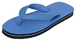 R V Footwear Kids Blue Rubber House Slippers - 13 UK