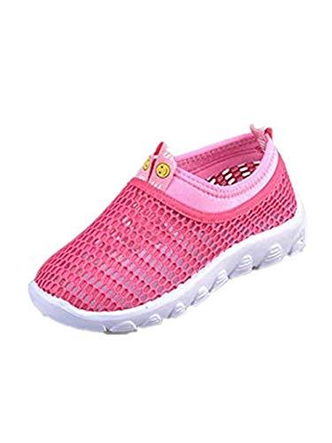 Vamoro Säugling Kinder Baby Jungen Mädchen Mesh Candy Farbe Sport Run Sneakers Freizeitschuhe Atmungsaktiv Sandalen Unisex Kinder Hausschuhe Geschlossene Sandalen(Heißes Rosa,33.5 EU)