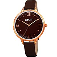 August Steiner Womens Quartz Watch, Analog Display and Leather Strap AS8263BR