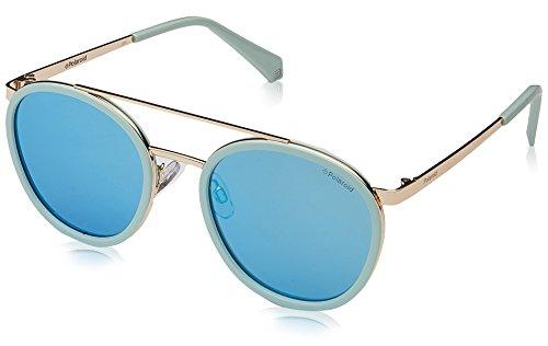Polaroid Mirrored Round Women's Sunglasses - (PLD 6032/S 1ED 535X|53|Blue Color) image