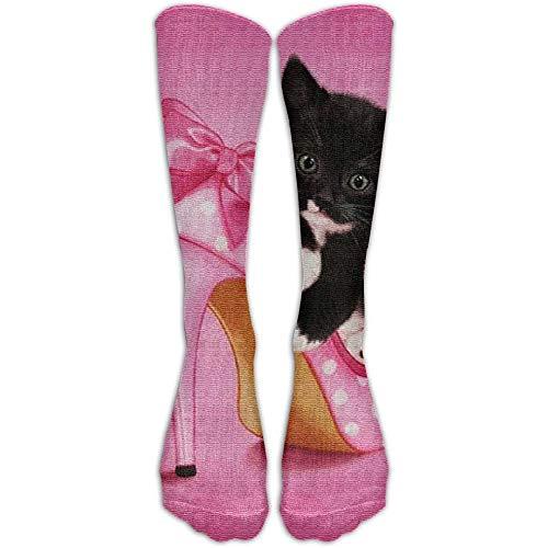 Taylor Fred Gatto e scarpe col tacco alto Calze a compressione Calze da calcio Calze alte Calze lunghe per corsa, medicina, atletica, viaggi