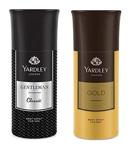 Yardley London Men\'s Deodorant Gentleman and Gold (150ml) - Combo of 2
