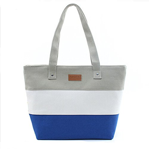 YKD Canvas Bag riutilizzabili Sack Stripe scuola borse di tessuto dipinto Shopper Tote tasca A4 cerniere borse per donna vendita YZ6-Green Grey