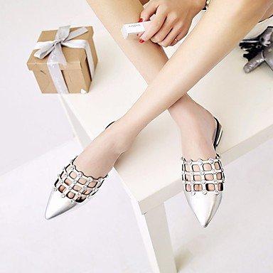 LvYuan altro nero argento casuale bovina sandali primavera estate Silver