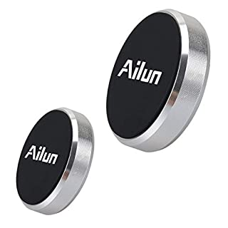 Ailun Mini Car Phone Mount,Magnet Key Holder,[2Pack] Dashboard Magnetic Car Mount,Stick-on Compatible iPhone X/Xs/XR/Xs Max/8/7/6/6s Plus,Galaxy S9/S9+,S8/S8+,S7/S7 Edge&Other Smartphones[Silver]