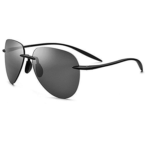 Ppy778 UV400 Damen Herrenmode Retro Übergroße Randlose Schädel Sonnenbrille (Color : Gray)