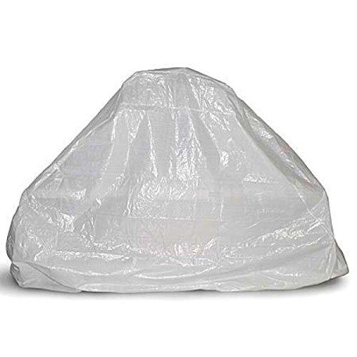 Sunday grill - telo di copertura e protezione bianco. per barbecue in muratura taglia xl con2 panche 240x90x200h