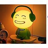 icase4u Lámpara de mesa y mesilla de noche simple escritorio moderno dormitorio creativa luz cartoon Kungfu Panda/Skate DJ chico Forma para niños amigos como regalo de Navidad Festival (Skate DJ Chico)