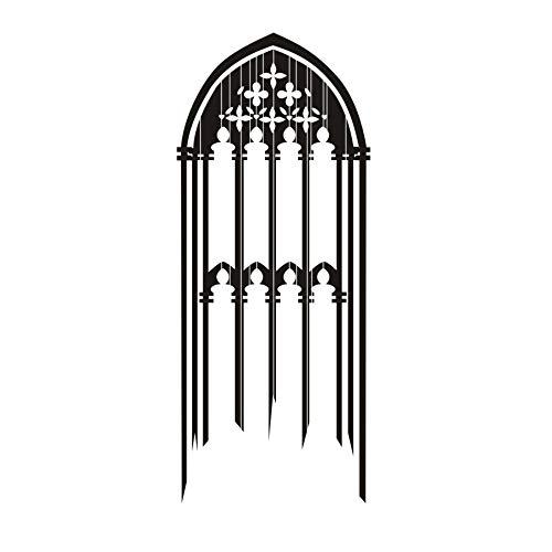 JXAA DCTOP Finestra Gotica Autoadesivo Della Parete Del Vinile Smontabile Candele Decorativo Schizzo Adesivo Accessori Muursticker Per Soggiorno 56 cm x134 cm
