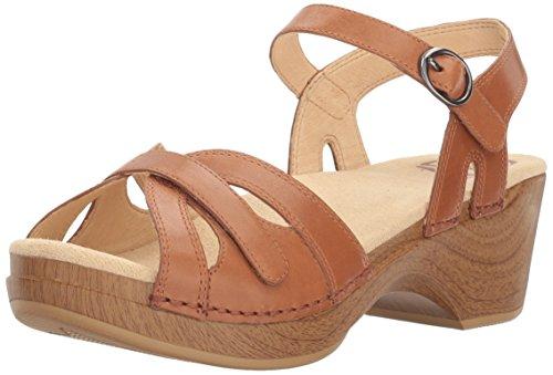 Dansko Women's Season Flat Sandal, Camel, 41 EU/10.5-11 M US