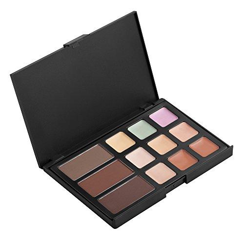 12 Couleurs Fard à Paupières Anticernes Palette De Maquillage Beauté Ensemble Cosmétique Kit