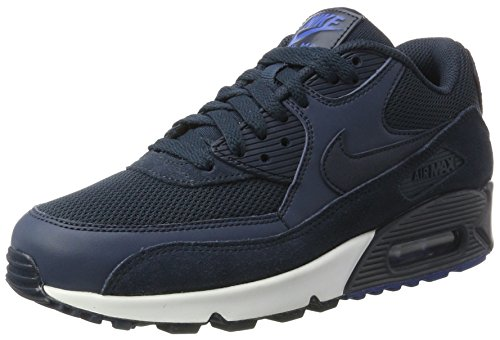 Nike Air Max 90 Essential, Baskets Mode Homme Multicolore (Armory Navy/armory Navy/blue Jay/white)
