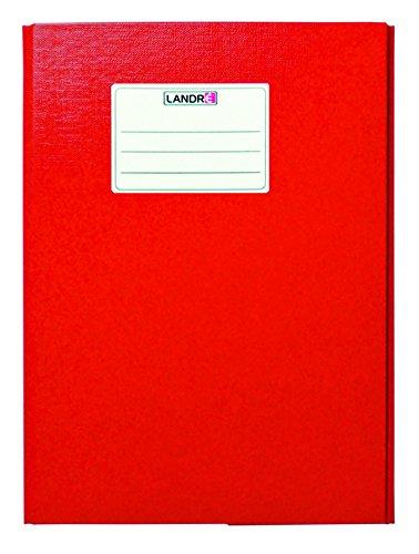 LANDRE 100427229 Heftbox 10er Pack für A4 4 Farben Sammelbox mit Beschriftungsschild Leinenprägung sorgt für Ordnung und schützt vor Eselsohren