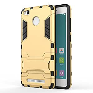 Rishlight High Quality Total protection Back cover for Redmi 3s Prime / Redmi 3s,(Gold Color)