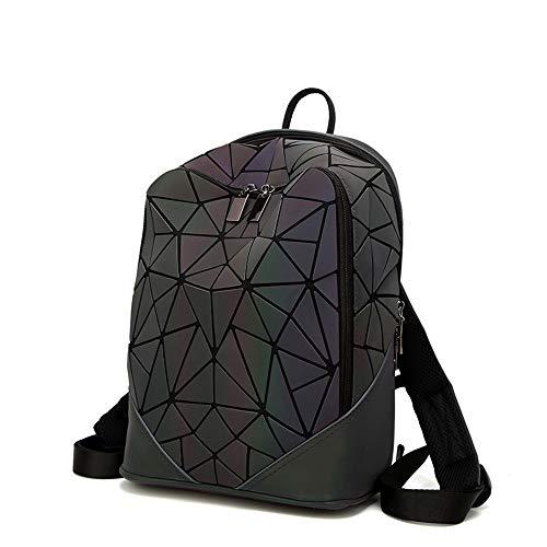 Damen Rucksack mit Kordelzug, holografisch, geometrisch, für Teenager/Mädchen