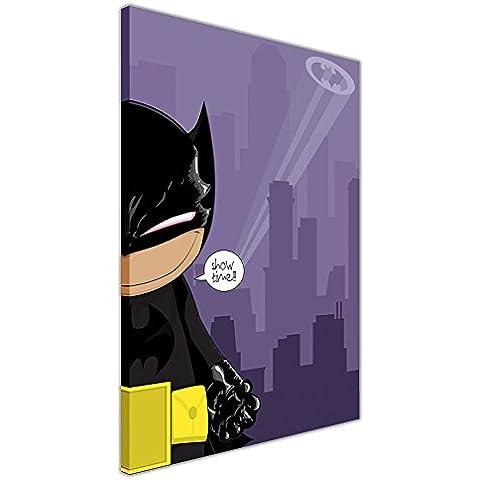 Cute Baby Batman Stampa Su Tela immagini incorniciate stanza Deco Pop Art Stampa per Bambini, puntine Tela Legno, 02- A3 - 16