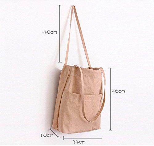 Borsa A Tracolla In Tela Grande Borsa A Tracolla Grande Donna Casual, Shopping Bag, Nero, 34cm * 36cm * 10cm Rosa