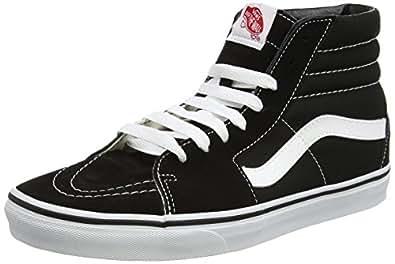 Vans Sk8-Hi, Sneakers Unisex Adulto, Nero (Black/White), 34.5 EU