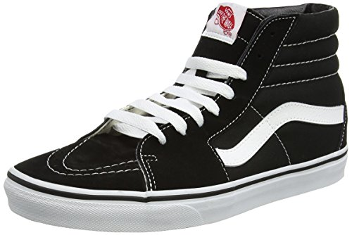 Vans Sk8-Hi, Sneakers Unisex Adulto, Nero (Black/White), 41 EU