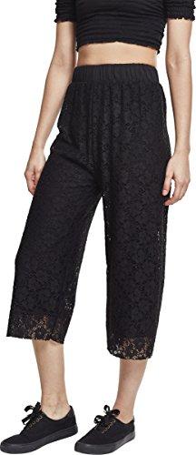 Urban Classics Damen Ladies Laces Culotte Hose, Schwarz (Black 00007), W29 (L)