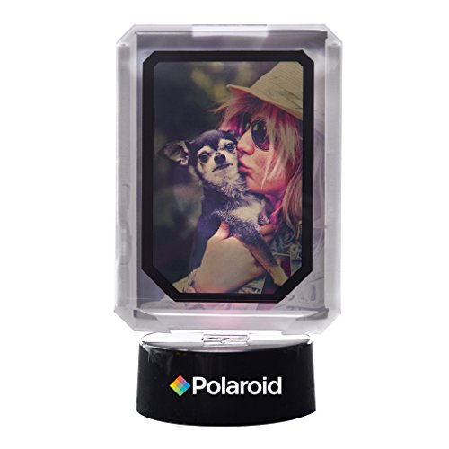 Polaroid marco de fotos interactivo colorido con luces LED - Gran pantalla para tus proyectos de papel fotográfico de 2x3 pulgadas de Zinc Polaroid Memories (Snap, Pop, Zip, Z2300) (Snap, Pop, Zip, Z2300)
